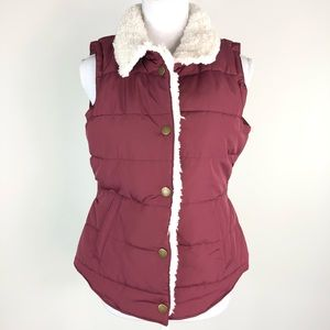 Maurices Sherpa Trim Puffer Vest